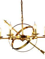 economico -ZHISHU 6-Light Circolare Lampadari Lampada da terra - Stile Mini, Nuovo design, Albero, 110-120V / 220-240V Lampadine non incluse