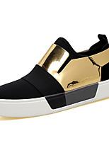 cheap -Men's Shoes PU(Polyurethane) Fall Light Soles Sneakers Black / Black / Gold / Black / Silver