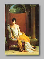 cheap -Oil Painting Hand Painted - People Classic / Vintage Canvas