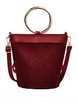 cheap -Women's Bags PU(Polyurethane) Shoulder Bag Zipper Black / Brown / Wine