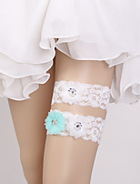 cheap -Chiffon Romantic / European Style Wedding Garter 617 Flower Garters Wedding / Special Occasion