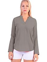 abordables -Mujer Noche Camisa, Escote en Pico Un Color