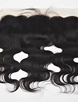 Недорогие -Yavida Евро-Азиатские волосы / Естественные кудри 4X13 Закрытие Волнистый Бесплатный Часть Швейцарское кружево Натуральные волосы Все С детскими волосами / Мягкость / Для темнокожих женщин