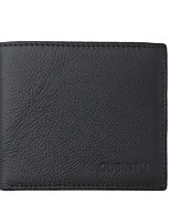 cheap -Men's Bags Cowhide Wallet Embossed Black