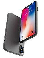 cheap -Case For Apple iPhone X / iPhone 8 Frosted Back Cover Solid Colored Hard PC for iPhone X / iPhone 8 Plus / iPhone 8
