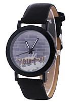 cheap -Xu™ Women's Dress Watch / Wrist Watch Chinese Creative / Casual Watch / Large Dial PU Band Casual / Fashion Black / Brown / Grey