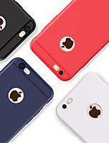 Недорогие -Кейс для Назначение Apple iPhone 8 / iPhone 8 Plus Рельефный Кейс на заднюю панель Однотонный Мягкий ТПУ для iPhone X / iPhone 8 Pluss /