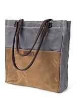 cheap -Women's Bags Canvas Shoulder Bag Zipper Gray / Fuchsia / Gray Green