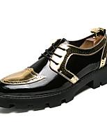 Недорогие -Муж. обувь Лакированная кожа Весна Удобная обувь / Формальная обувь Туфли на шнуровке Золотой / Черный / Для вечеринки / ужина