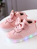 preiswerte -Jungen / Mädchen Schuhe PU Frühling & Herbst Komfort / Leuchtende LED-Schuhe Stiefel Schnürsenkel / Klettverschluss / LED für Kinder / Baby Weiß / Schwarz / Rosa