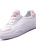 cheap -Women's Shoes PU(Polyurethane) Summer Comfort Sneakers Flat Heel Round Toe Purple / Pink