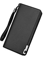 cheap -Men's Bags PU(Polyurethane) Wallet Zipper Black / Dark Blue / Coffee