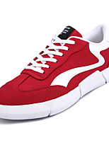 Недорогие -Муж. Полотно Лето Удобная обувь Кеды Черный / Серый / Красный