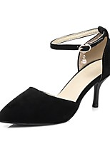 cheap -Women's Shoes PU(Polyurethane) Spring & Summer D'Orsay & Two-Piece Heels Stiletto Heel Pointed Toe Black / Beige