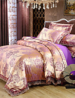 cheap -Duvet Cover Sets Luxury Polyster Jacquard 4 Piece