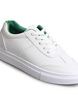 Недорогие -Жен. Обувь Полиуретан Весна Удобная обувь Кеды На плоской подошве Белый / Зеленый / Темно-русый