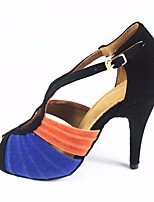 cheap -Women's Latin Shoes PU(Polyurethane) Heel Slim High Heel Dance Shoes Blue / Performance / Leather / Practice