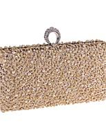 preiswerte -Damen Taschen Terylen Abendtasche Perlenstickerei / Perlen Verzierung Champagner / Schwarz / Silber
