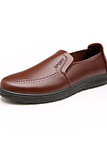 cheap -Men's Shoes PU(Polyurethane) Spring / Fall Comfort Loafers & Slip-Ons Black / Brown