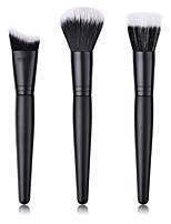 cheap -3-Pack Makeup Brushes Professional Makeup Brush Set Nylon fiber Eco-friendly / Soft Wooden / Bamboo