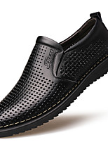 cheap -Men's Shoes Faux Leather Summer Comfort Loafers & Slip-Ons Black / Yellow / Party & Evening