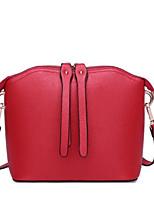 economico -borsa da donna in nappa tracolla in pelle con cerniera vino / rosso / nero