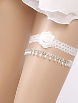 cheap -Chiffon Wedding / Imitation Pearl Wedding Garter 617 Imitation Pearl Garters Wedding / Special Occasion