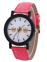 Недорогие -Xu™ Жен. Нарядные часы / Наручные часы Китайский Творчество / Повседневные часы / Cool PU Группа На каждый день / Мода Черный / Белый / Синий / Крупный циферблат / Один год