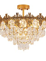 cheap -QIHengZhaoMing 9-Light Crystal Chandelier Ambient Light 110-120V / 220-240V, Warm White, Bulb Included / 15-20㎡