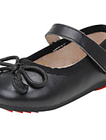 cheap -Girls' Shoes Nappa Leather Spring & Summer Comfort Flats Bowknot for Black / Red