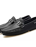 cheap -Men's Shoes Nappa Leather Summer Moccasin Loafers & Slip-Ons White / Black