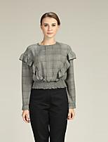cheap -Women's Business / Street chic Shirt - Houndstooth