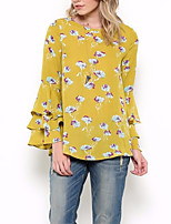 cheap -Women's Going out Basic Cotton Loose T-shirt - Graphic Print / Summer