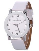 baratos -Xu™ Mulheres Relógio de Pulso Chinês Criativo / Adorável / Mostrador Grande PU Banda Fashion / Minimalista Preta / Branco / Azul