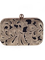 cheap -Women's Bags Polyester Evening Bag Buttons / Embroidery Black