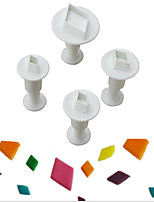 cheap -Bakeware tools Plastic Creative / DIY For Cookie / For Cupcake / For Candy Cake Molds / Cookie Cutters 4pcs