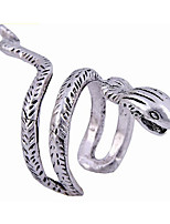 cheap -Men's Open Ring - Silver Plated Snake Vintage, European, Steampunk Silver For Halloween / Masquerade
