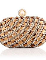cheap -Women's Bags Polyester Evening Bag Crystals / Pearls Blue / Champagne / Silver