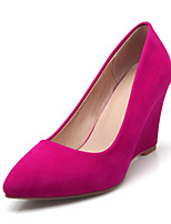 cheap -Women's Shoes Synthetics Spring & Summer Basic Pump Heels Wedge Heel Pointed Toe Red / Green / Almond / Party & Evening