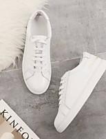 economico -Per donna Scarpe Nappa Primavera Comoda Sneakers Piatto Bianco / Serata e festa