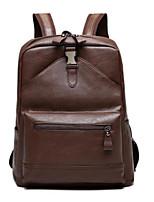 cheap -Men's Bags PU(Polyurethane) Backpack Zipper Brown / Black