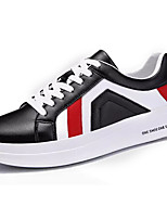 cheap -Men's PU(Polyurethane) Spring Comfort Sneakers Color Block White / Black / Black / White