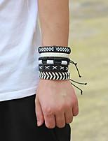 abordables -Homme Tressé Bracelets - Européen, Décontracté / Sport, Mode Bracelet Blanc Pour Quotidien / Sortie