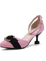cheap -Women's Shoes Suede Spring & Summer Basic Pump Heels Kitten Heel Pink / Party & Evening