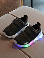 cheap -Boys' / Girls' Shoes Mesh Spring / Fall / Spring & Summer Comfort / Light Up Shoes Sneakers Chain / Magic Tape / LED for Kids / Baby White / Black / Pink / Striped