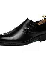 Недорогие -Муж. Искусственная кожа Осень Удобная обувь Туфли на шнуровке Черный