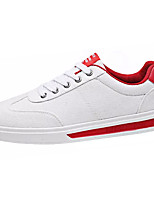 cheap -Men's PU(Polyurethane) Fall Comfort Sneakers White / Red / Black / White