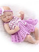 Недорогие -NPKCOLLECTION Куклы реборн Девочки 12 дюймовый Полный силикон для тела / Силикон / Винил - как живой Детские Девочки Подарок