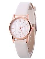 baratos -Xu™ Mulheres Relógio de Pulso Chinês Criativo / Relógio Casual / Adorável PU Banda Fashion / Minimalista Preta / Branco / Azul