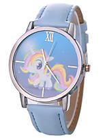 cheap -Xu™ Women's Dress Watch / Wrist Watch Chinese Creative / Casual Watch / Large Dial PU Band Cartoon / Fashion Black / White / Blue